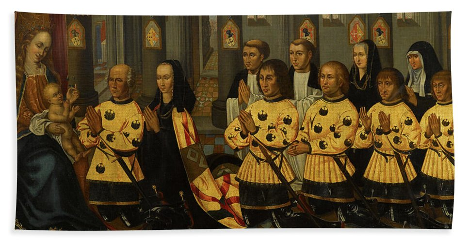 Flemish School (late 16th-early 17th Century) Wouter Van Der Noot Bath Sheet featuring the painting Wouter Van Der Noot by MotionAge Designs