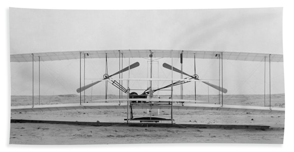 1903 Bath Sheet featuring the photograph Wright Brothers by Granger