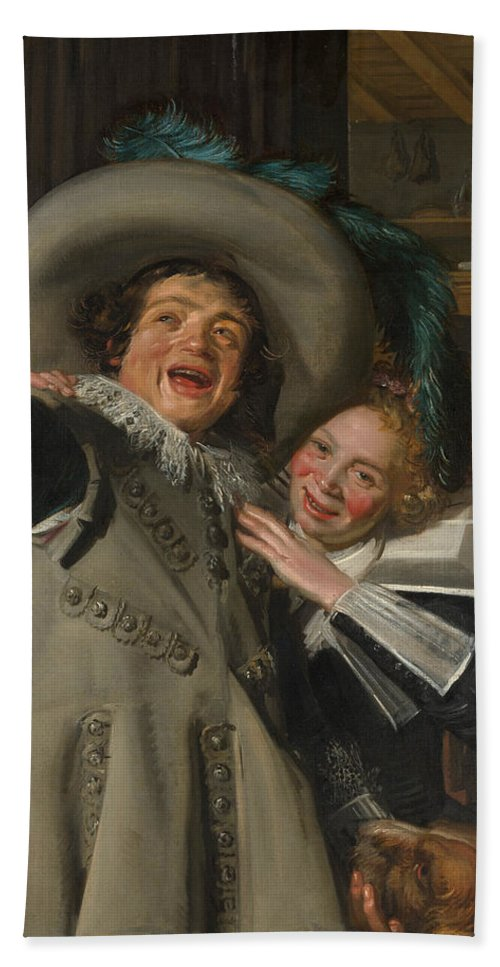 Baroque Bath Sheet featuring the painting Yonker Ramp And His Sweetheart by Frans Hals