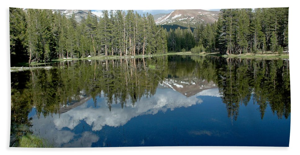 Usa Bath Sheet featuring the photograph Yosemite Reflections A by LeeAnn McLaneGoetz McLaneGoetzStudioLLCcom
