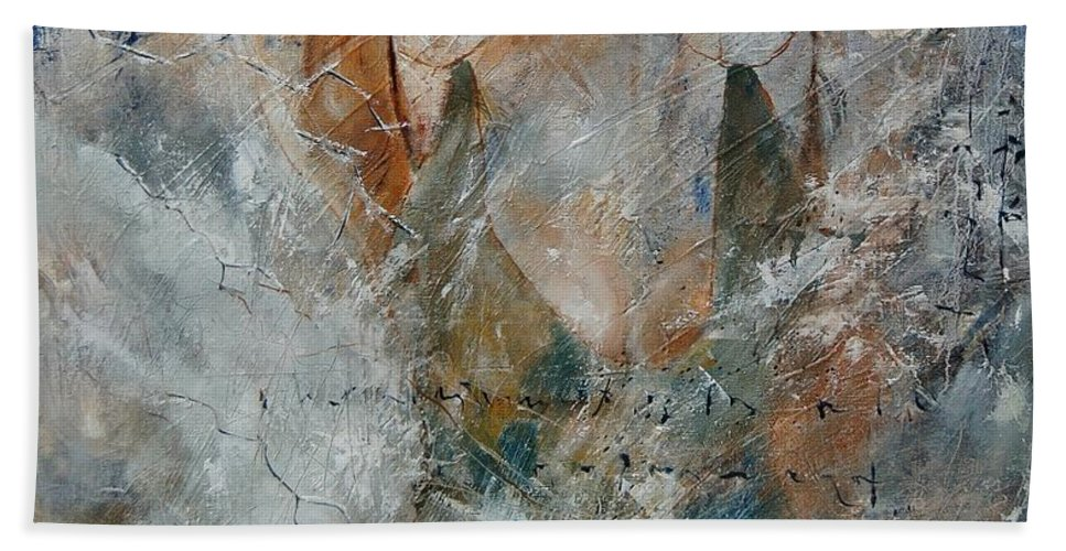 Girl Bath Sheet featuring the painting Young Girl 679080 by Pol Ledent