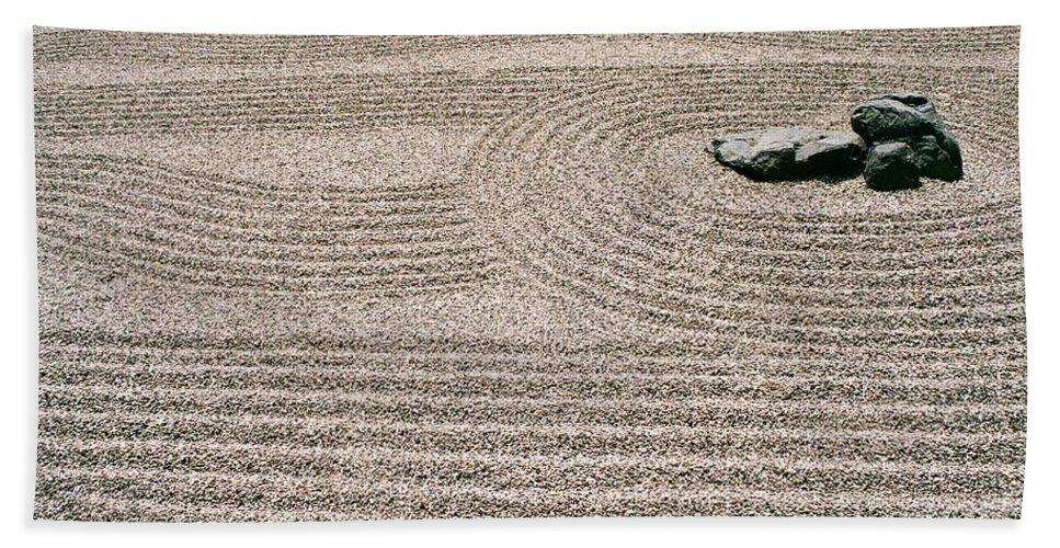 Zen Bath Towel featuring the photograph Zen Garden by Dean Triolo