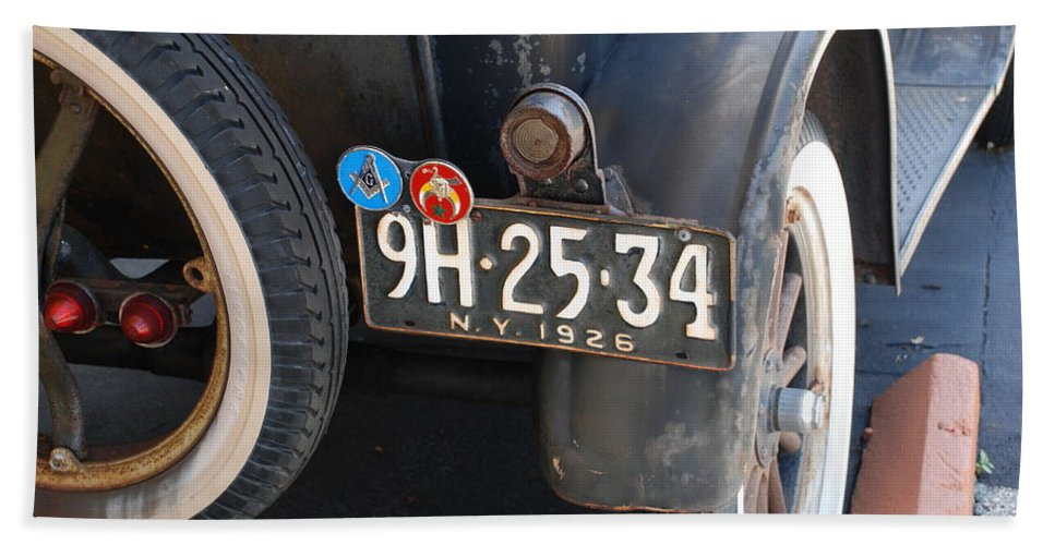 Numbers Bath Sheet featuring the photograph 1926 Model T Ford by Rob Hans