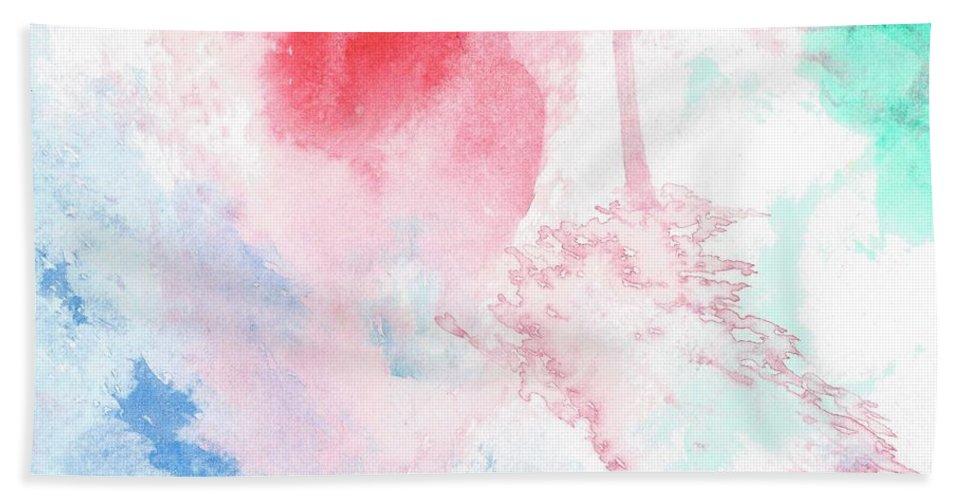 Paint Bath Sheet featuring the painting #10 by Alina Debris