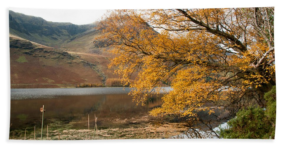 Buttermere Lake Hand Towel featuring the photograph Buttermere by Smart Aviation