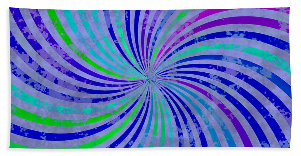 Grunge Hand Towel featuring the digital art Grunge Swirl by Miroslav Nemecek