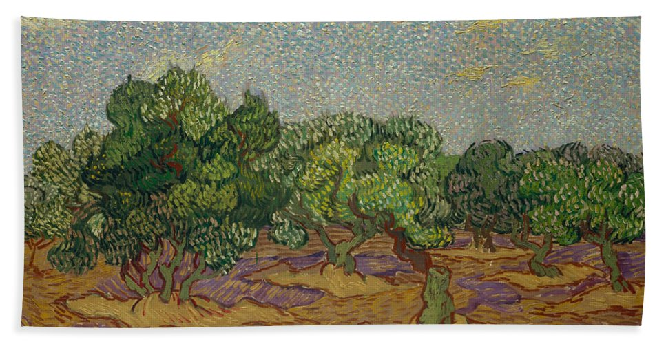Dutch Hand Towel featuring the painting Olive Trees by Vincent van Gogh