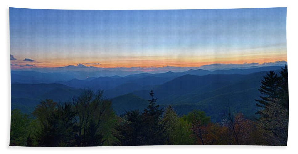 Mountain Bath Sheet featuring the photograph Springtime At Scenic Blue Ridge Parkway Appalachians Smoky Mount by Alex Grichenko