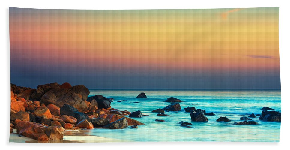 Beautiful Hand Towel featuring the photograph Sunset 10 by MotHaiBaPhoto Prints