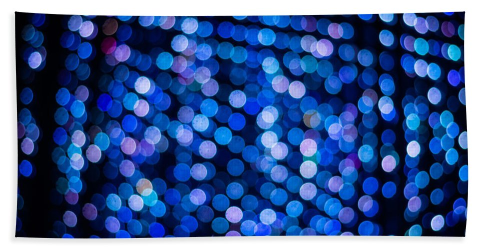 Abstract Bath Sheet featuring the photograph Abstract Lights by Jijo George