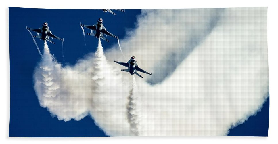 Aviation Hand Towel featuring the photograph Air Show by FL collection