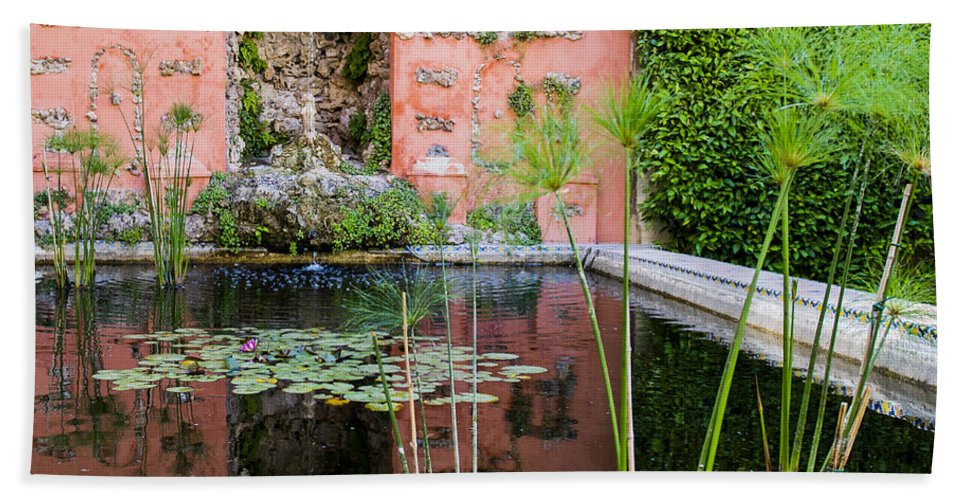 Alcazar Bath Sheet featuring the photograph Alcazar Of Seville - Seville Spain by Jon Berghoff