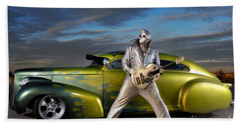 Silver Elvis Bath Sheet featuring the photograph Silver Elvis by Oleksiy Maksymenko