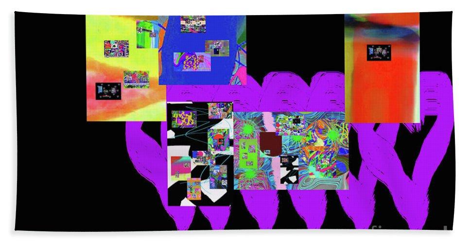 Walter Paul Bebirian Bath Towel featuring the digital art 12-26-2016f by Walter Paul Bebirian
