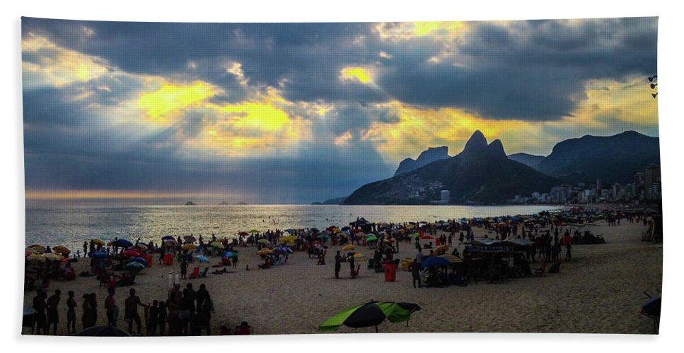 Ipanema Bath Towel featuring the photograph Ipanema Beach by Cesar Vieira