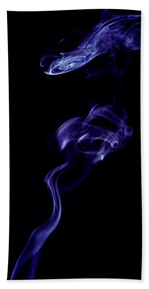 Smoke Hand Towel featuring the photograph Smoke Art Photography by Kiran Joshi
