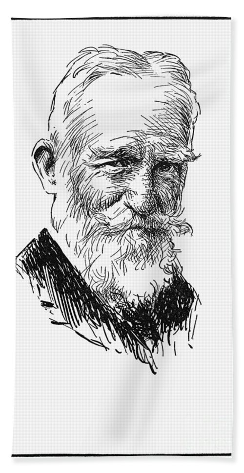 1935 Hand Towel featuring the photograph George Bernard Shaw by Granger