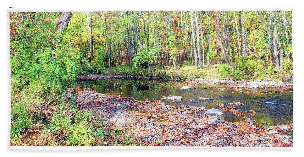 Stream Bath Sheet featuring the photograph Pennsylvania Stream In Autumn by A Gurmankin