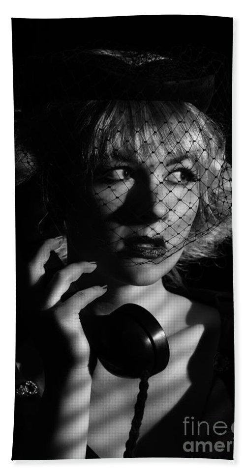 Hollywood Bath Towel featuring the photograph Film Noir by Amanda Elwell