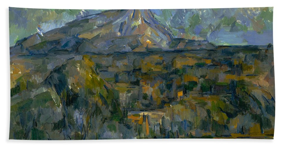 Clouds Hand Towel featuring the painting Mont Sainte-victoire by Paul Cezanne