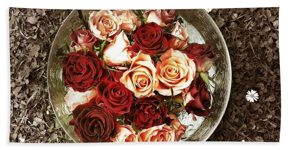 Flower Hand Towel featuring the photograph Roses by FL collection