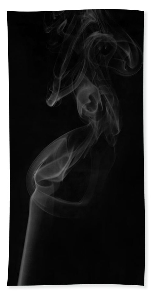 Smoke Hand Towel featuring the photograph Smoke Art Photography by Kiran Joshi