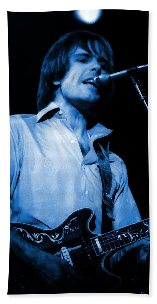 Bob Weir Bath Sheet featuring the photograph #15 Enhanced In Blue by Ben Upham