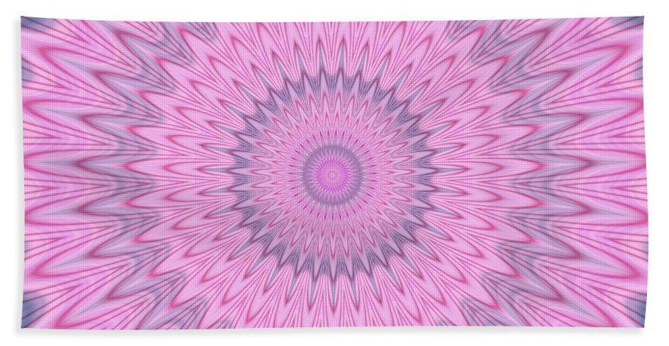 Psycho Hand Towel featuring the digital art Psycho Hypno Floral Pattern by Miroslav Nemecek