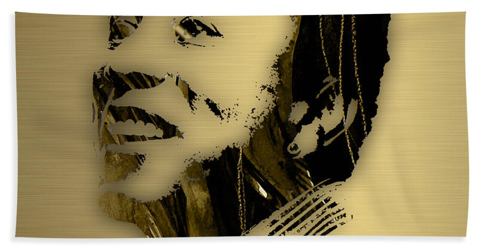 Smokey Robinson Hand Towel featuring the mixed media Smokey Robinson Collection by Marvin Blaine