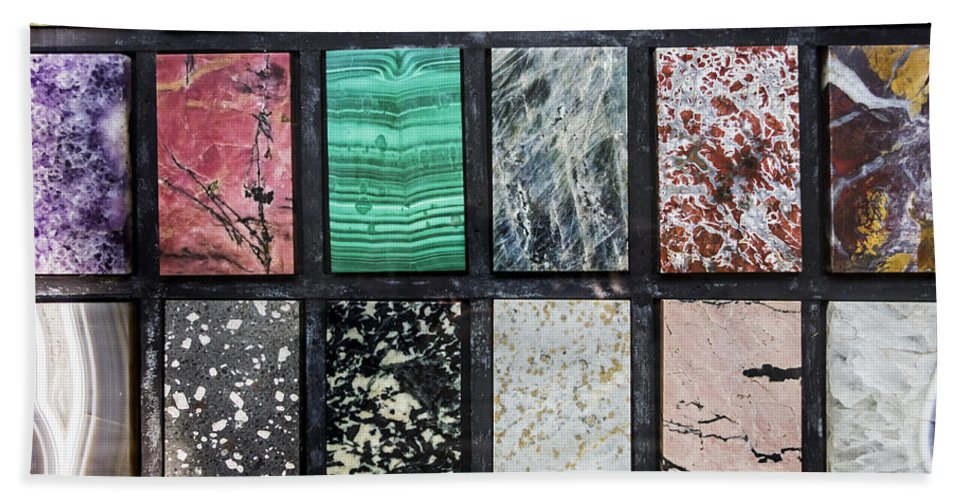 Marble Bath Sheet featuring the photograph 150403p102 by Arterra Picture Library