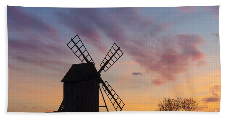 Windmill Bath Sheet featuring the photograph 150501p045 by Arterra Picture Library