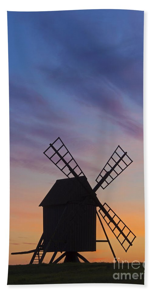 Windmill Bath Sheet featuring the photograph 150501p046 by Arterra Picture Library