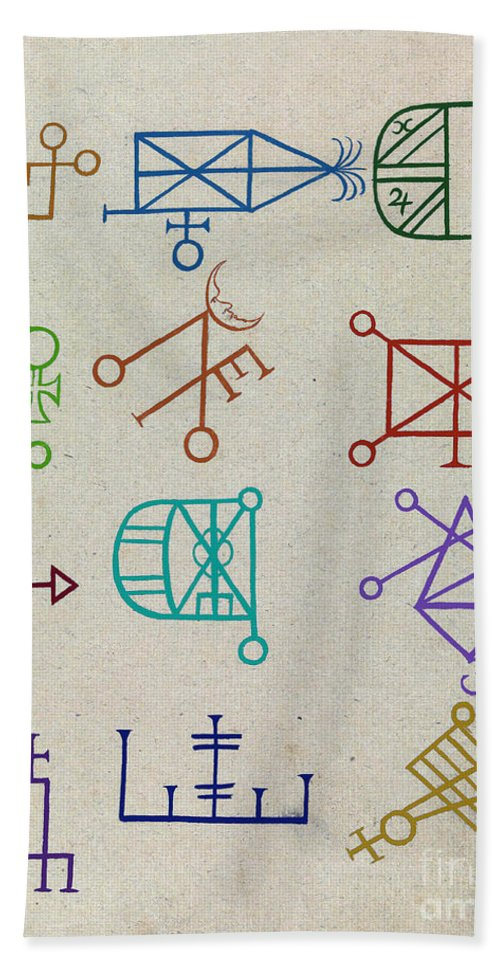 History Hand Towel featuring the photograph Cabbalistic Signs And Sigils, 18th by Science Source