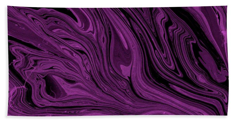 Marble Bath Towel featuring the digital art #17 by Alina Debris