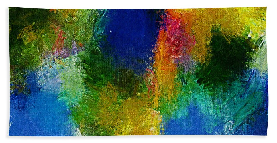 Abstract Urban Art Hand Towel featuring the digital art Abstract by Galeria Trompiz