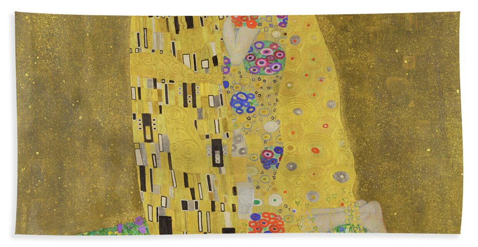 Tree Of Life Hand Towel featuring the painting The Kiss by Gustav Klimt
