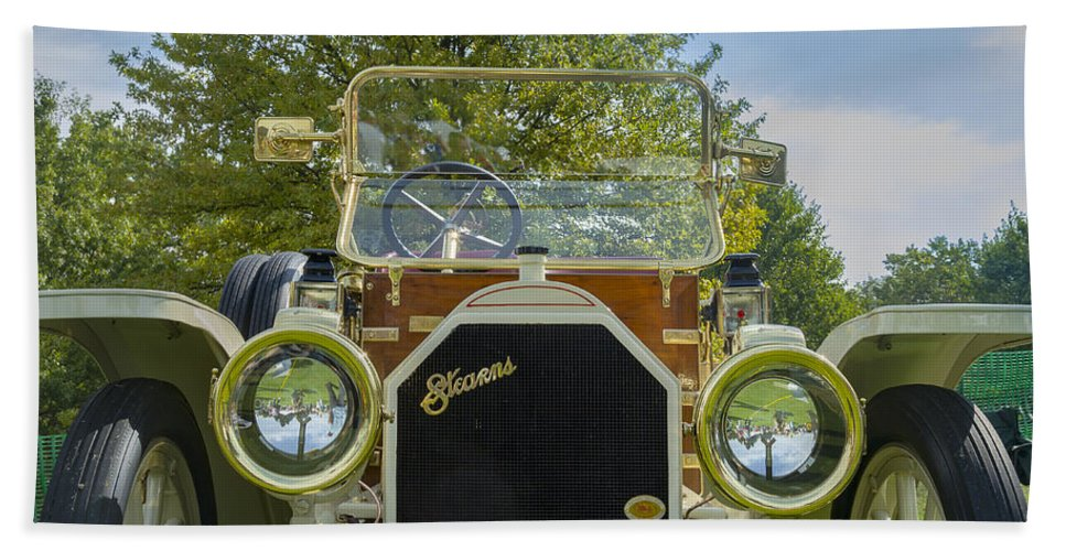 Antique Hand Towel featuring the photograph 1911 Stearns by Jack R Perry