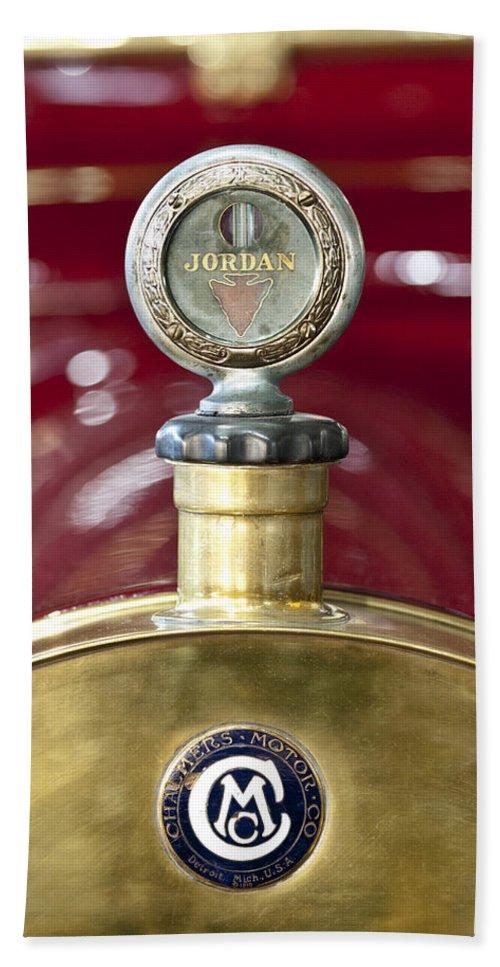 Jordan Motor Car Hand Towel featuring the photograph 1913 Chalmers Model 18 Jordan Motometer by Jill Reger