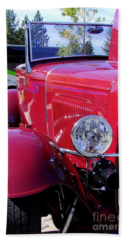 Red Cars Hand Towel featuring the photograph 1931 Ford by Mary Deal