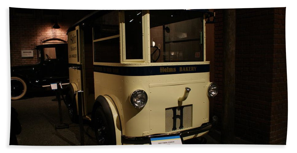Helms Bakery Truck Bath Sheet featuring the photograph 1931 Helms Bakery Truck by Ernie Echols