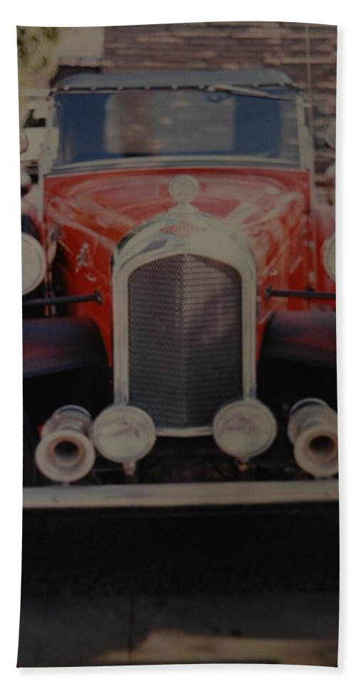 Car Hand Towel featuring the photograph 1932 by Rob Hans