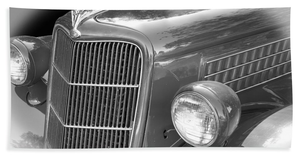 1935 Hand Towel featuring the photograph 1935 Ford Sedan Grill by Nick Gray
