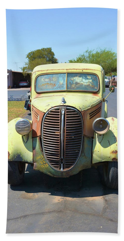 Transportation Bath Sheet featuring the photograph 1938 Ford Truck by Richard Jenkins