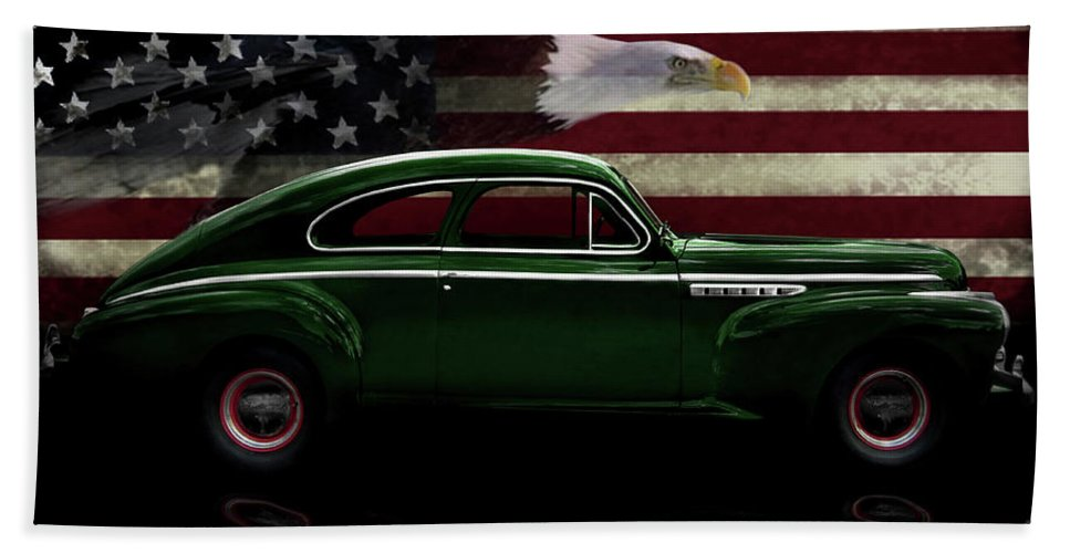 1941 Buick Century Fastback Hand Towel featuring the photograph 1941 Buick Century Tribute by Peter Piatt