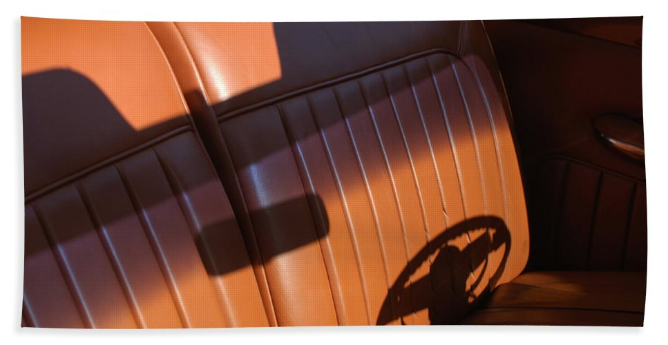 Car Bath Sheet featuring the photograph 1950 Oldsmobile Rocket 88 Convertible Interior by Jill Reger