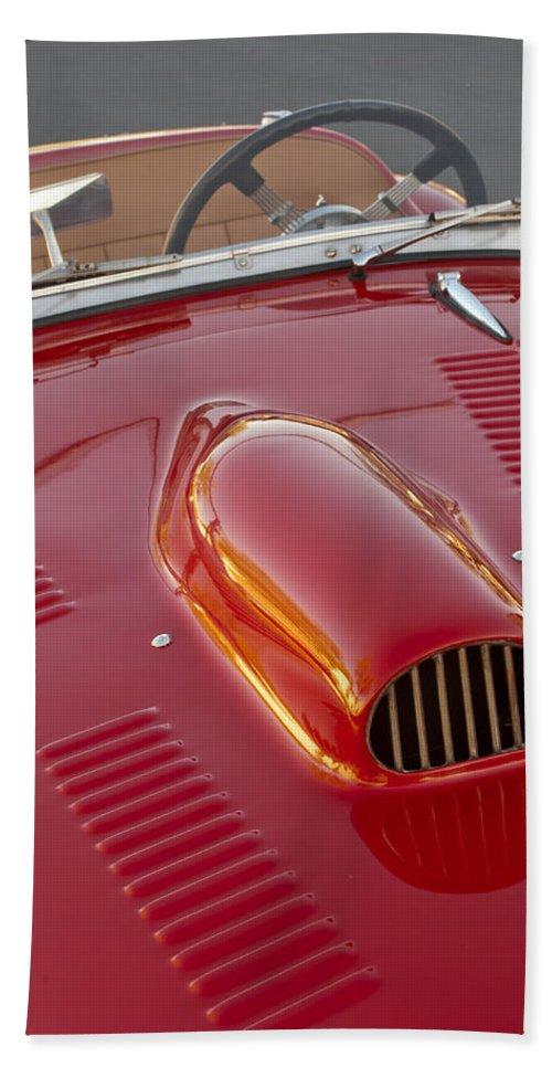 1951 Allard K2 Hand Towel featuring the photograph 1951 Allard K2 Roadster 3 by Jill Reger