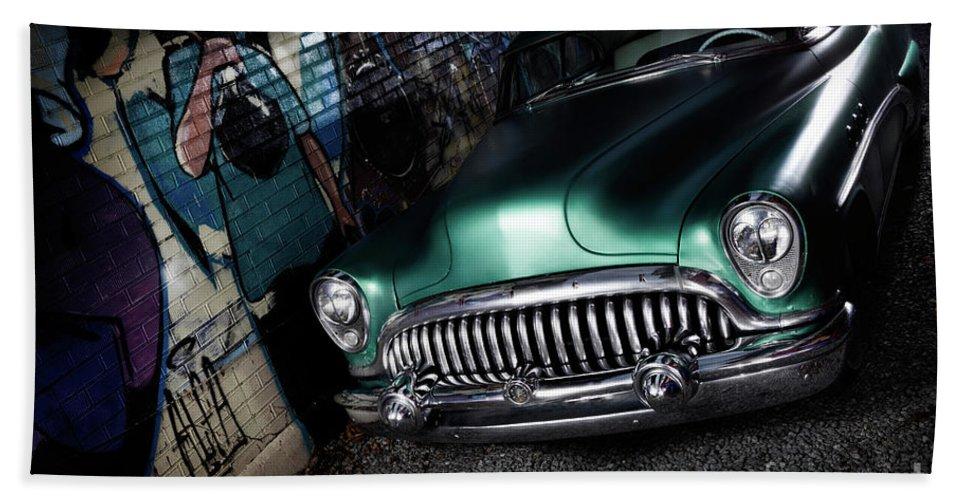 Retro Bath Sheet featuring the photograph 1953 Buick Roadmaster by Oleksiy Maksymenko