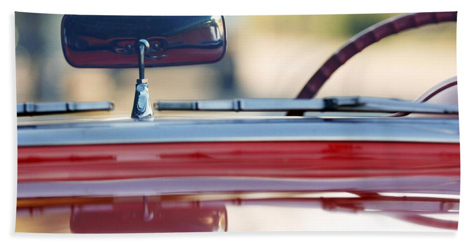 Classic Car Bath Towel featuring the photograph 1957 Chevrolet Corvette Convertible by Jill Reger