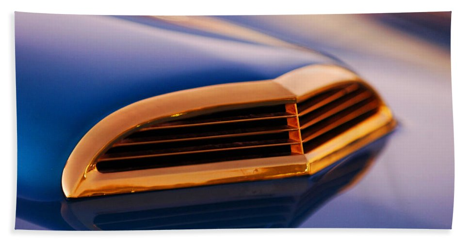 Classic Car Bath Towel featuring the photograph 1957 Ford Thunderbird Scoop by Jill Reger