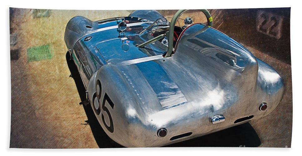 1957 Bath Sheet featuring the photograph 1957 Lotus Eleven Le Mans by Stuart Row